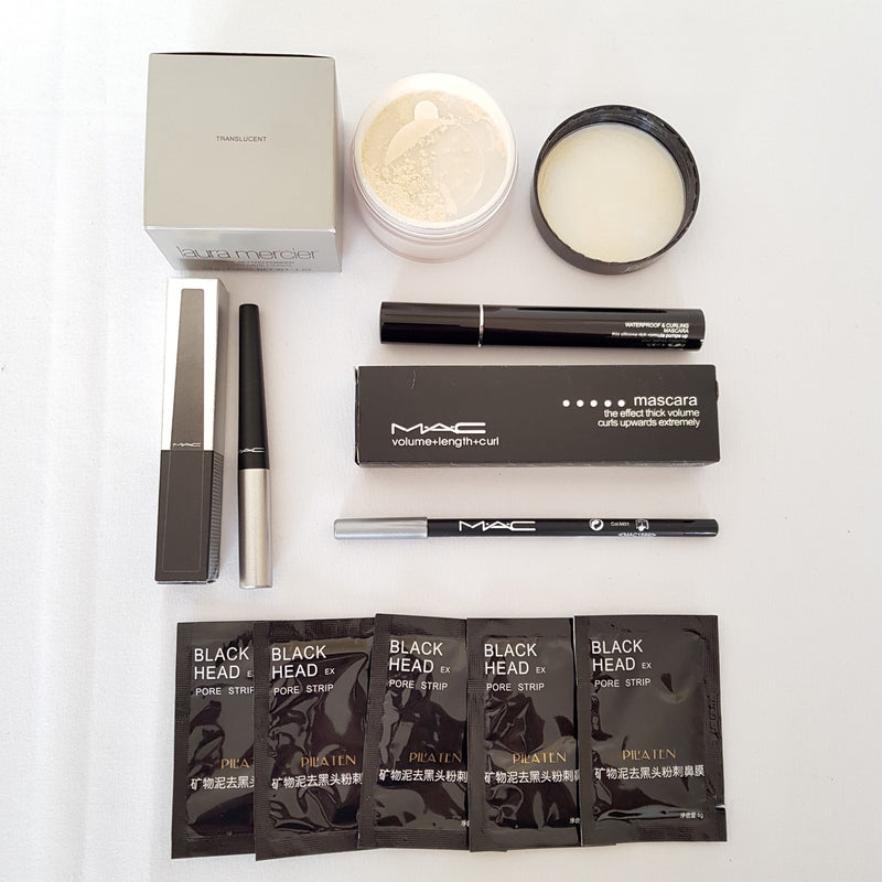 Mixed Makeup Set 22: Translucent Loose Setting Powder Face Mascara Liquid Eyeliner Cosmetics - 1000 Things Australia