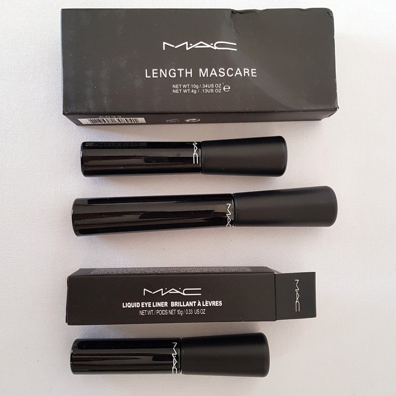 2pc Mixed Makeup Set: 3D Fiber Lash Length Mascara & Waterproof Liquid Black Eyeliner - 1000 Things Australia