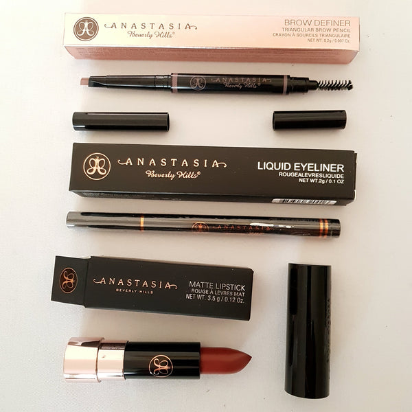 3pc Mixed Makeup Set: ANASTASIA BEVERLY HILLS Brow Definer Liquid Eyeliner Matte Lipstick - 1000 Things Australia
