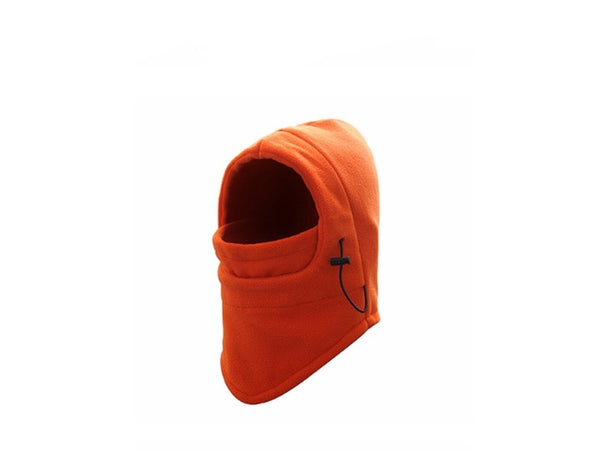 Thermal Fleece Orange Hood Mask