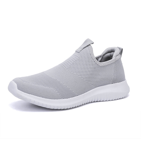 Men's Lightweight Mesh Knit Slip On Shoes (Grey) - 1000 Things Australia