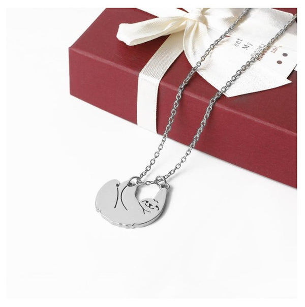Valerie & Co. - 18K Silver Plated Sloth Animal Pendant Necklace |  1000-things-australia.