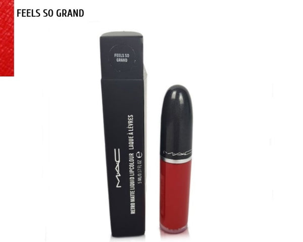 M·A·C FEELS SO GRAND Red Retro Matte Liquid Lipstick - 1000 Things Australia