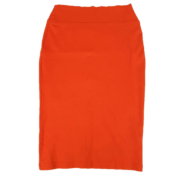 REVIEW Women's Bright Orange Bodycon Midi Pencil Straight Skirt Workwear Office