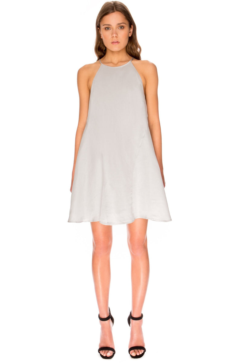 KEEPSAKE THE LABEL With You Pale Grey A-Line Dress - 1000 Things Australia