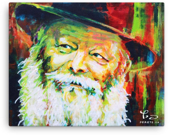 """Rebbe Bright Side"" <br>Stretched Canvas Print"