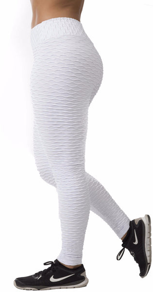 Textured  - White Leggings
