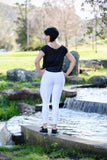 Jazz Textured Leggings - White