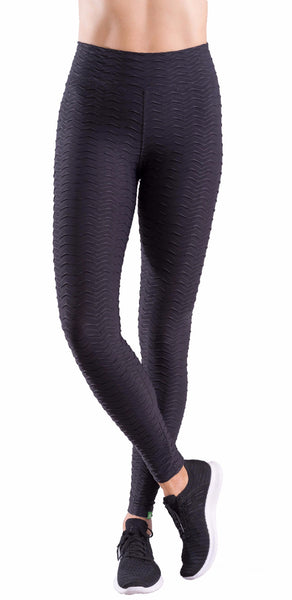 Wavy Textured  Leggings