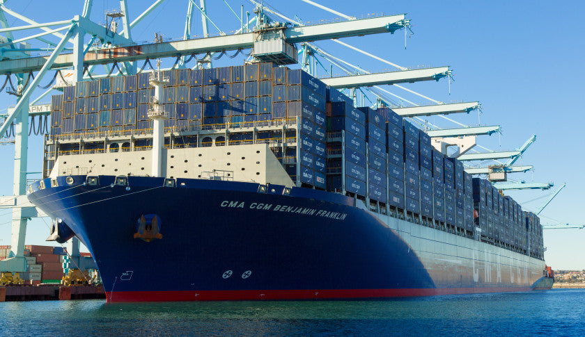 The Largest Cargo Ship Ever Made -1,306 Feet long - Benjamin Franklin