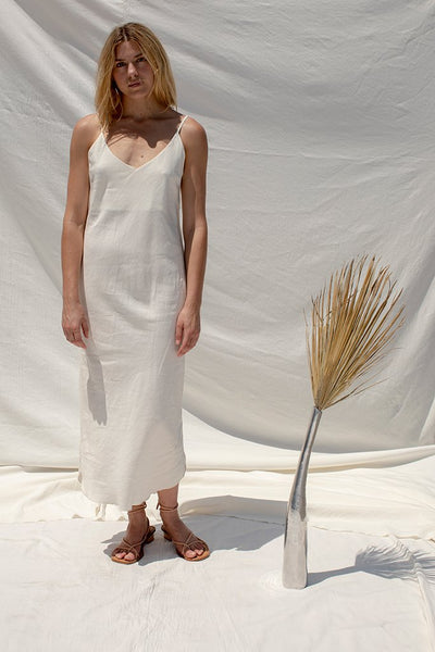 Long Slipdress | Silk Linen