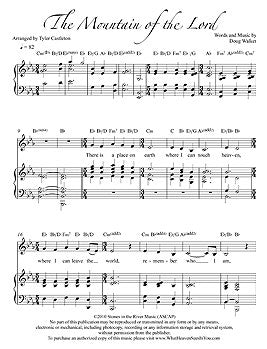 Individual Sheet Music - The Mountain of the Lord