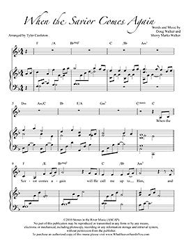 Individual Sheet Music - When the Savior Comes Again