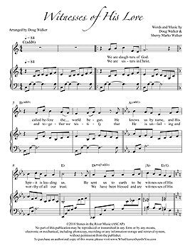 Individual Sheet Music - Witnesses of His Love