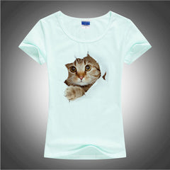 3D Cute Little Cat Women T-Shirt