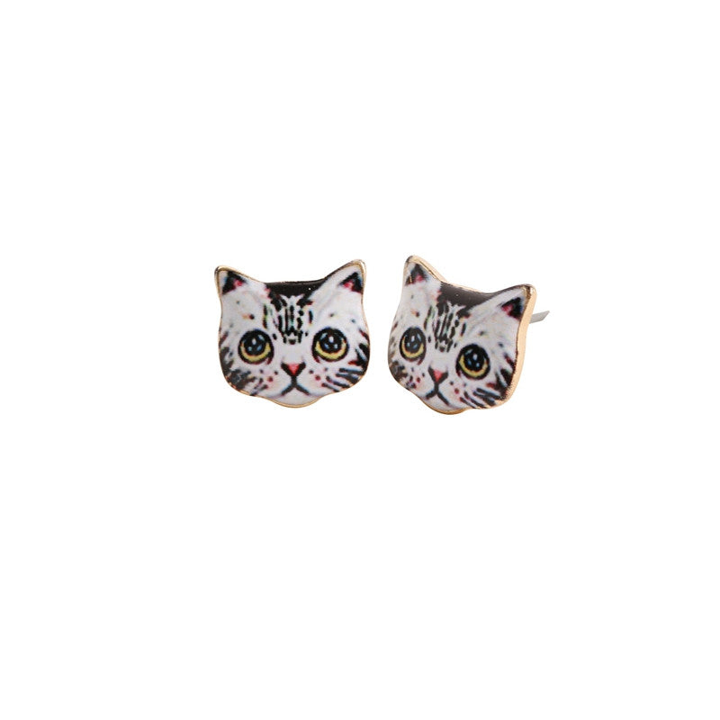 New Pattern Wholesales Fashion Smile Cat Earrings