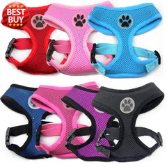 Air Mesh Pet Dog Puppy Harness Vest with Paw Rubber