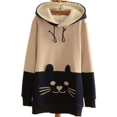 Cat Face Tail SweatShirts Hoodies