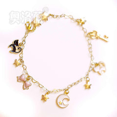 Luna Cat Chain Bracelet Hand Catenary