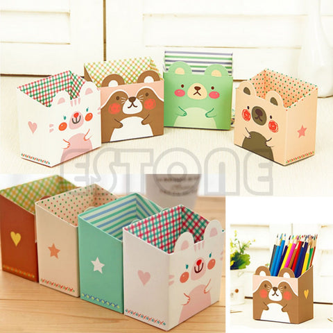 Cat Cartoon Paper Storage Box