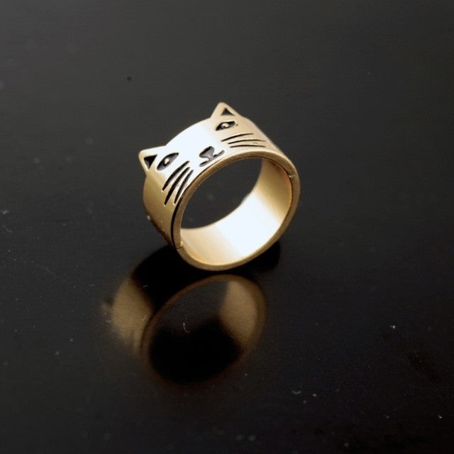 Vintage Cat Fashion Brief Ring