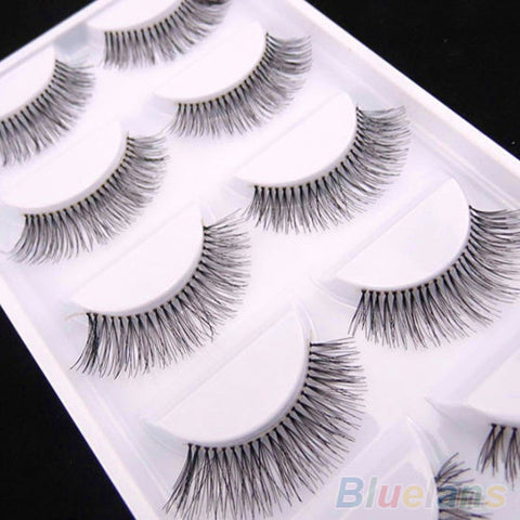 5 Pairs Natural Sparse Cross Eye Lashes