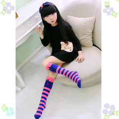1 Pair of Cat Pattern Knee High Socking for 1-8 Years Children