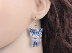 Cute Cat Drop Acrylic Earrings