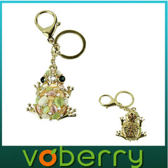 Cat Eye Stone Crystal Key Chain