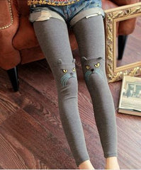 Cotton Stereoscopic Cat ear design Slim 9 Minutes Pants Leggings