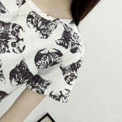 Cat Women's Summer T-Shirt