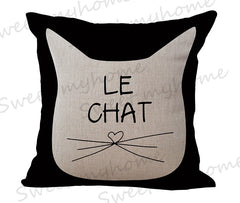 Cute Cat Printed Decorative Sofa Cushion