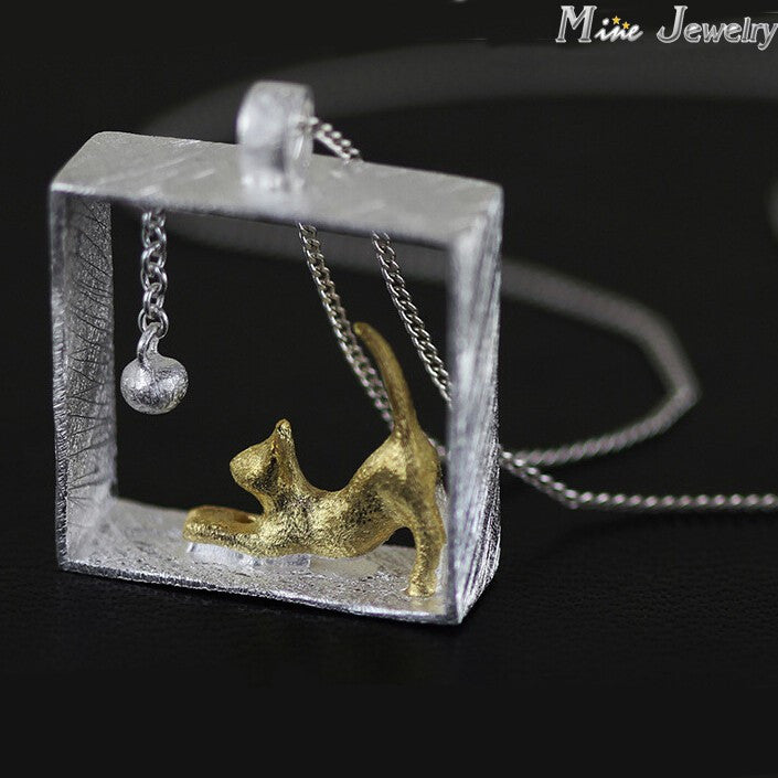 Rectangle Cat Pendants