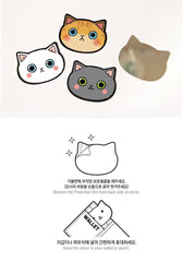 Mini Pocket Cartoon Cat Head Small Mirror