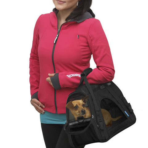 Pet Carrier Comfort Black Travel Bag