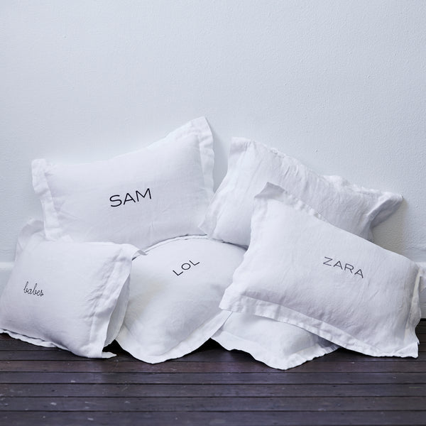 luxury linen baby pillows