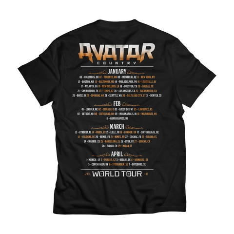 Avatar Country Circus World Tour Tee (Jan-Apr 2018)