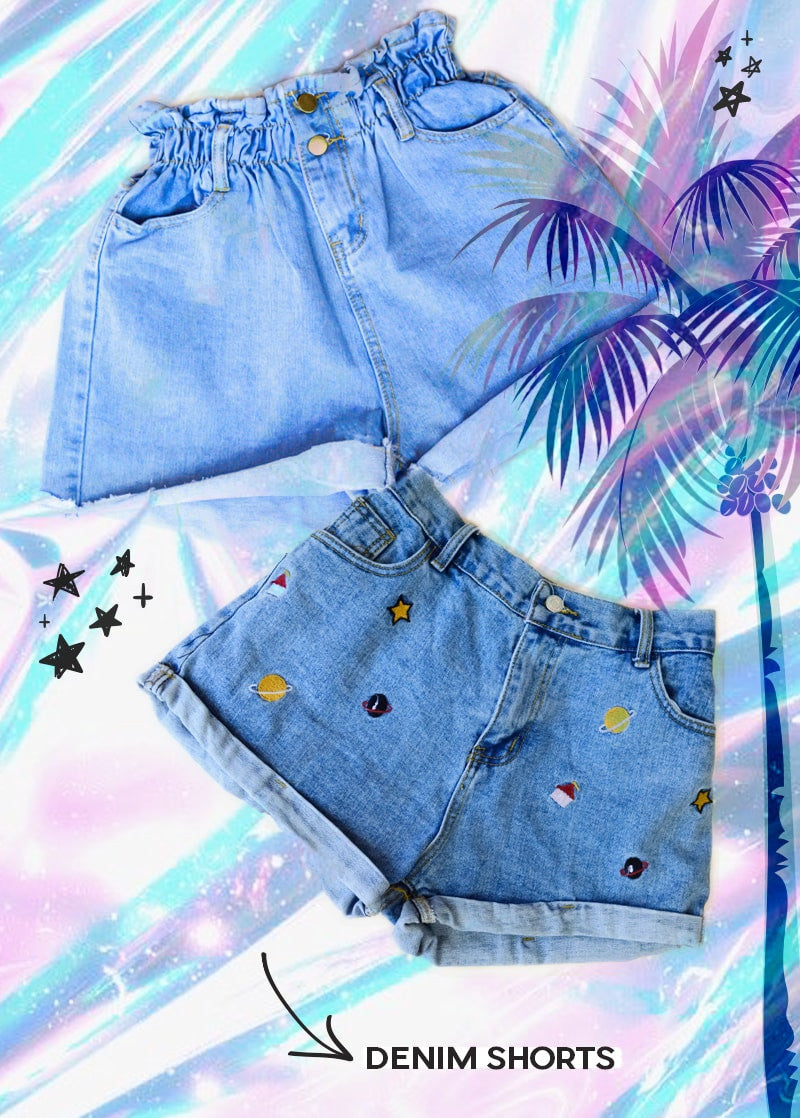 DENIM SHORTS | STATUS COLLECTIVE