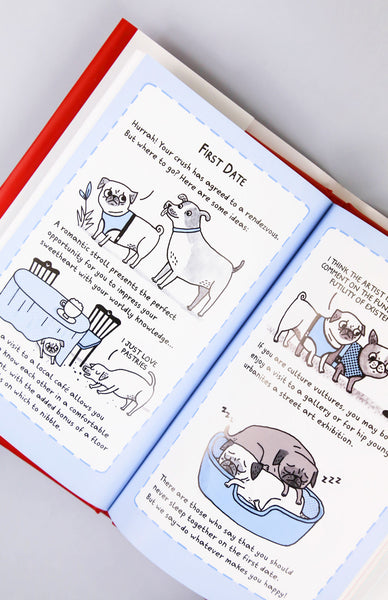 A Pug's Guide to Dating - Hardback Inside