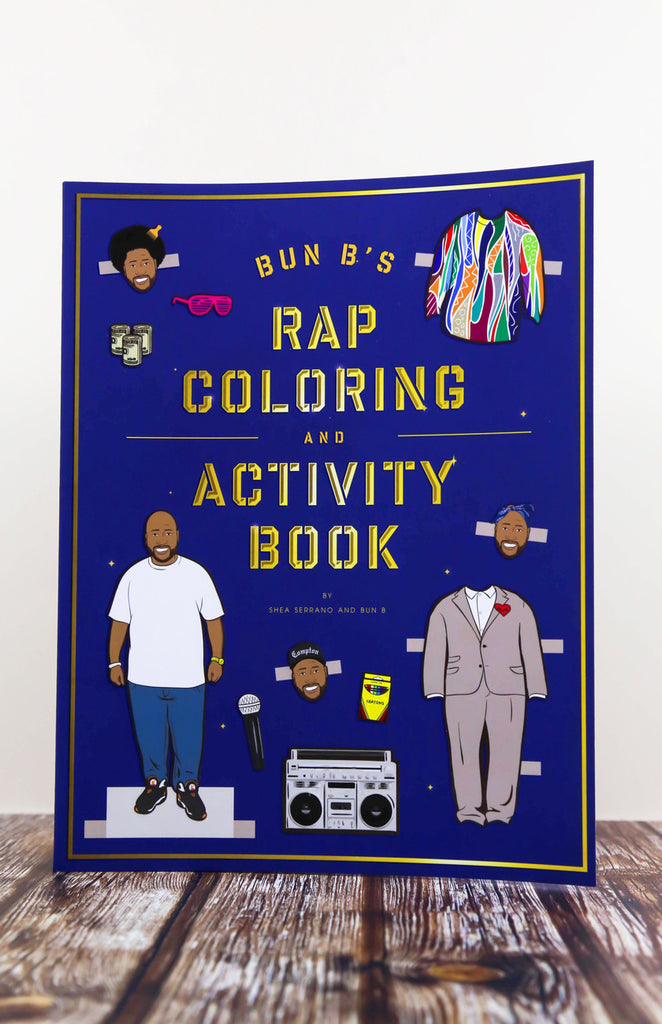 Bun B's Rapper Colouring and Activity Book - Paperback Front