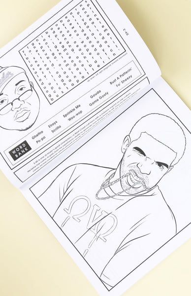 Bun B's Rapper Colouring and Activity Book - Paperback Inside