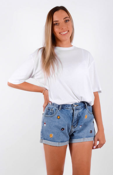 Out Of This Galaxy Denim Shorts