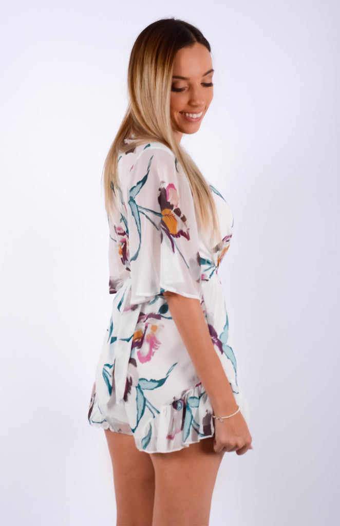 Acacia Playsuit White Floral
