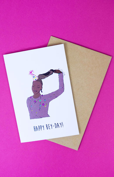 'Happy Bey-Day!' Beyonce Birthday Card with envelope