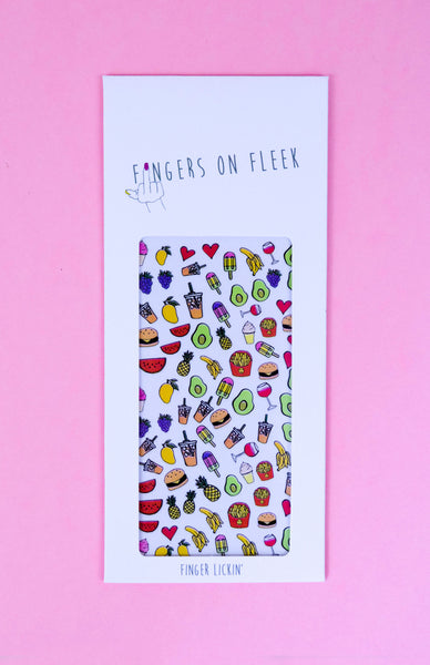 Fingers On Fleek Nail Decals - Finger Lickin'