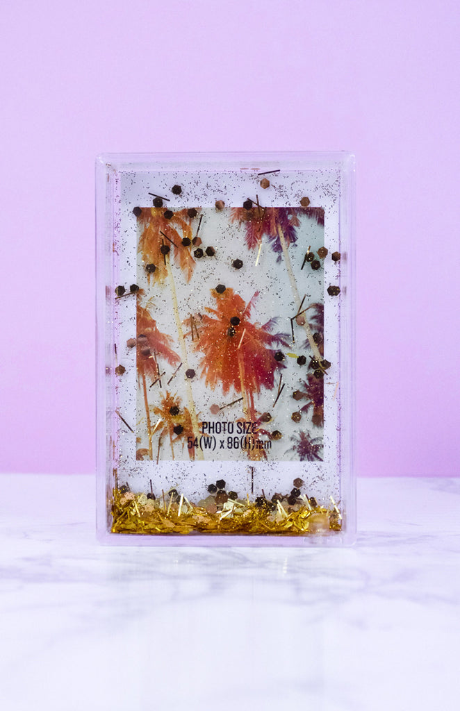 Polaroid Glitter Photo Frame - Gold - Gifts - STATUS COLLECTIVE ...