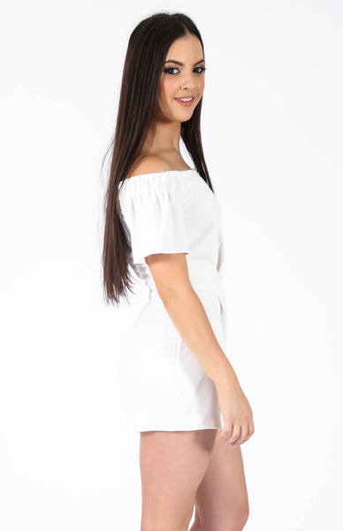 Dakota Playsuit White Side