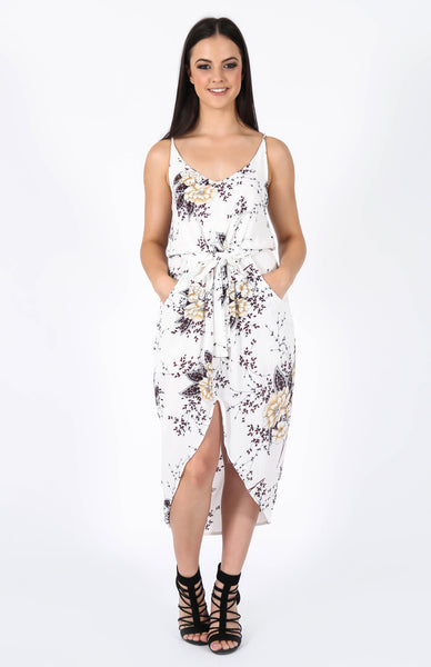 Catalina White Floral Dress