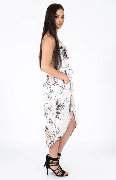 Catalina White Floral Dress Side