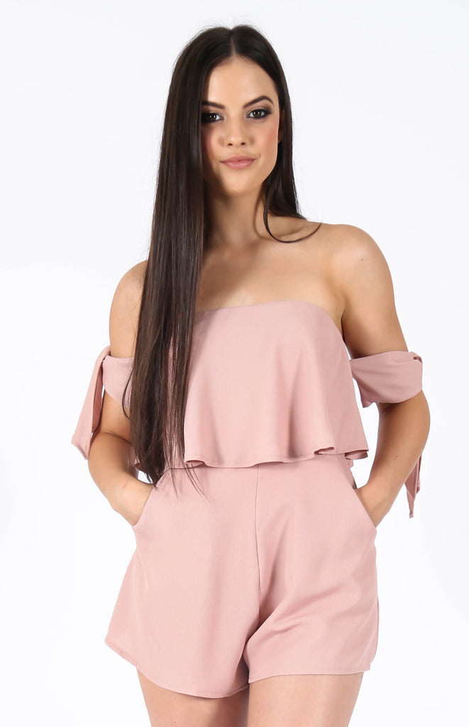 Sky Dusty Pink Playsuit